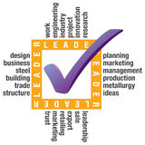 LEADER - Word collage background Royalty Free Stock Photography