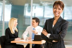 Leader of working team Royalty Free Stock Photo