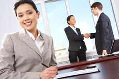 Leader at workplace Royalty Free Stock Photography