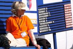 Leaderboard at the Golf Open de Paris 2009 Royalty Free Stock Photos