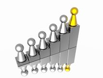 Leaderchip illustrazione di stock