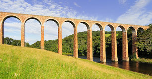 Leaderfoot viaduct, river Tweed, Scotland Royalty Free Stock Photos