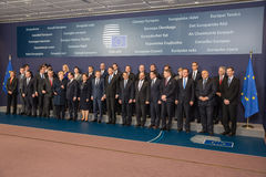 Leaders of the European Union Stock Photo