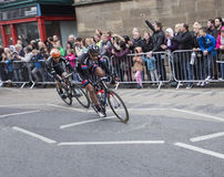 Leaders Tour de Yorkshire cycle race York Royalty Free Stock Photography