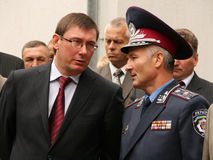 The leaders of Ukrainian police Stock Photography