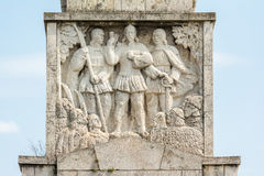 Leaders Of The Uprising Of The Peasants Horea, Closca And Crisan. The Leaders Of The Uprising Of The Peasants Horea, Closca And Crisan Obelisk In Carolina White Stock Image