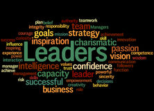 Leaders, word cloud concept 6 Royalty Free Stock Photography