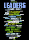 Leaders, word cloud concept Stock Photography
