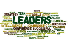 Leaders, word cloud concept 2 Stock Image