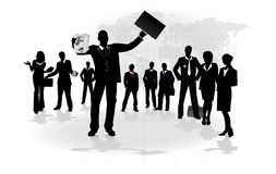 Leadership. Crowd of business people - conceptual vector Stock Photography