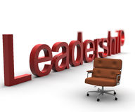 Leadership. A leadership armchair with the write Stock Image