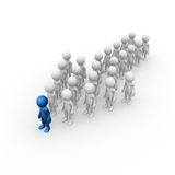 Leadership. Computer generated image of an arrow formed by people Royalty Free Stock Images