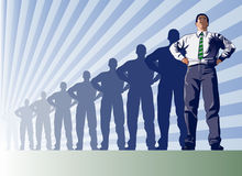 Leadership. In the businessworld represented by the making of a leader Royalty Free Stock Photos