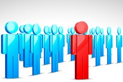 Leadership. Illustration of leader standing in front of crowd vector illustration