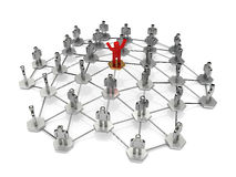 Leadership. A leader being in the center of influence Stock Photo