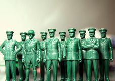 Leadership. Bunch of toy generals and admirals stock photo