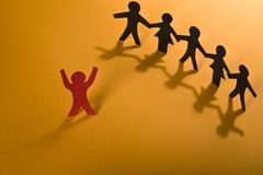 Leadership. Teamwork on orange series royalty free stock images