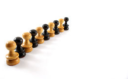 Leadership. Chess piece line up in one order Stock Images