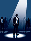 Leadership. Group of people and one man selected, conceptual business illustration Royalty Free Stock Photo