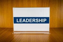 Leadership on Acrylic card holder Stock Image