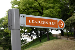 Leadership Ahead Stock Photography