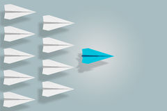 Leadership and ambition concept with paper plane. 3d rendering Stock Photo
