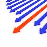 Leadership arrow Stock Photo