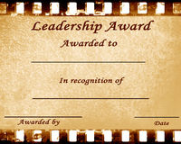 Leadership award Stock Photography