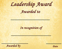 Leadership award Stock Images