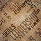 Leadership Background - Grunge Wordcloud Concept. Royalty Free Stock Image