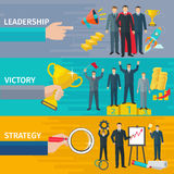 Leadership Banners Set Royalty Free Stock Photo