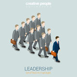 Leadership business concept flat 3d web isometric infographic Royalty Free Stock Photos