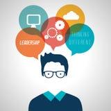 Leadership business entrepreneur design Royalty Free Stock Photos