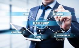 Leadership Business Management Teamwork Motivation Skills concept.  Stock Photography