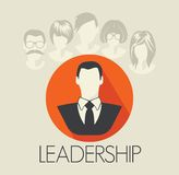 Leadership card Stock Photography