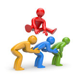 Leadership. Career metaphor. Color version Royalty Free Stock Images