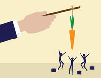 Leadership Carrot Royalty Free Stock Photography