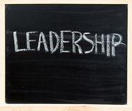 Leadership on chalkboard Royalty Free Stock Images