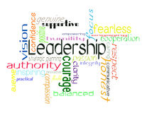 Leadership. Characteristics of a good leader illustration Royalty Free Stock Images