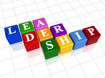 Leadership in colour 2. 3d colour boxes with text - leadership, word Royalty Free Stock Photography