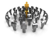 Leadership concept. Business concept. A leader with team showing respect Stock Images