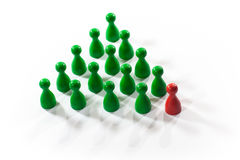 Leadership concept. Isolated on white Royalty Free Stock Images