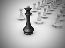Leadership concept - 3d render Royalty Free Stock Image