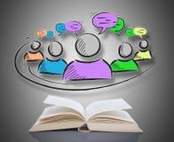 Leadership concept above a book Stock Photo