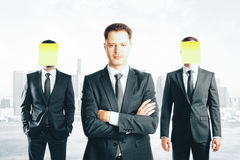 Leadership concept abstract city Royalty Free Stock Photo