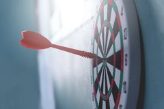 Leadership concept Arrows on archery target of dartboard Target business concept royalty free stock photo