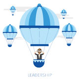 Leadership Concept with balloon and telescope Royalty Free Stock Image