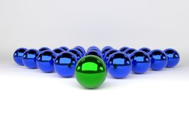Leadership concept balls, 3d Stock Photos