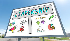 Leadership concept on a billboard Royalty Free Stock Photos