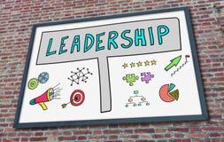 Leadership concept on a billboard Stock Photos